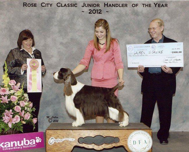 2011 Best Junior Handler Runner-Up